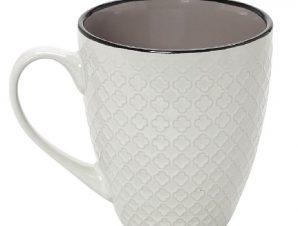 Κούπα Stoneware 560ml Γκρι-Κρεμ Cookie Delight ESPIEL HUN408K6 (Χρώμα: Γκρι, Υλικό: Stoneware) – ESPIEL – HUN408K6