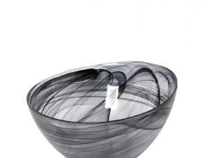 Μπωλ Σερβιρίσματος Γυάλινο Atlas Alabaster ESPIEL 14,5×8,5εκ. HOR1607K6 (Υλικό: Γυαλί, Χρώμα: Μαύρο) – ESPIEL – HOR1607K6