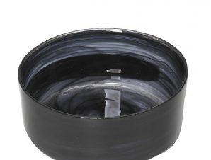 Μπωλ Σερβιρίσματος Γυάλινο Atlas Alabaster ESPIEL 21×8,5εκ. HOR1631K4 (Υλικό: Γυαλί, Χρώμα: Μαύρο) – ESPIEL – HOR1631K4