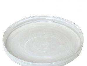 Πιάτο Φαγητού Γυάλινο Atlas Alabaster ESPIEL 33εκ. HOR1615K6 (Υλικό: Γυαλί, Χρώμα: Λευκό) – ESPIEL – HOR1615K6