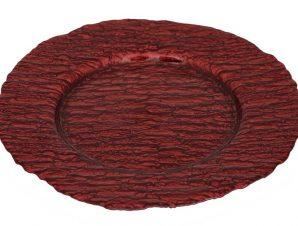 Πιάτο Φαγητού Γυάλινο Στρογγυλό Ramos ESPIEL 33,5εκ. HOR1133K6 (Υλικό: Γυαλί, Χρώμα: Κόκκινο) – ESPIEL – HOR1133K6