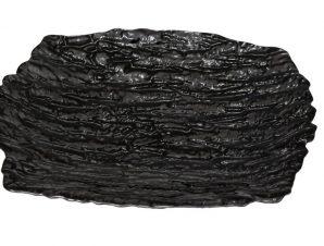 Πιατέλα Σερβιρίσματος Γυάλινη Ramos ESPIEL 25×17εκ. HOR1094K6 (Υλικό: Γυαλί, Χρώμα: Μαύρο) – ESPIEL – HOR1094K6