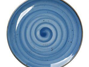 Πιάτο Φρούτου Πορσελάνης Terra Blue ESPIEL 19εκ. TLF103K6 (Υλικό: Πορσελάνη, Χρώμα: Μπλε) – ESPIEL – TLF103K6