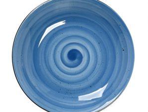 Πιάτο Βαθύ Πορσελάνης Terra Blue ESPIEL 23,5×4εκ. TLF104K6 (Υλικό: Πορσελάνη, Χρώμα: Μπλε) – ESPIEL – TLF104K6