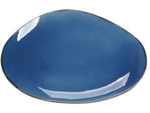 Πιατέλα Πορσελάνης Terra Blue ESPIEL 36×24,5×2,5εκ. TLF107K4 (Υλικό: Πορσελάνη, Χρώμα: Μπλε) – ESPIEL – TLF107K4