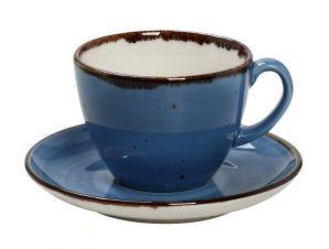 Φλυτζάνι Με Πιατάκι Cappuccino Πορσελάνης 350ml Terra Blue ESPIEL TLF110K6 (Υλικό: Πορσελάνη, Χρώμα: Μπλε) – ESPIEL – TLF110K6