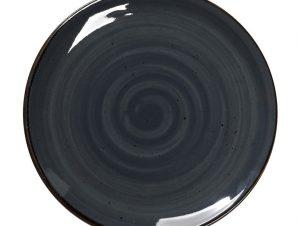 Πιάτο Ρηχό Πορσελάνης Terra Grey ESPIEL 24,5×2εκ. TLG102K6 (Υλικό: Πορσελάνη, Χρώμα: Μαύρο) – ESPIEL – TLG102K6