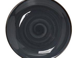 Πιάτο Σπαγγέτι Πορσελάνης Terra Grey ESPIEL 25,5×4,5εκ. TLG105K6 (Υλικό: Πορσελάνη, Χρώμα: Μαύρο) – ESPIEL – TLG105K6