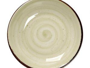 Πιάτο Βαθύ Πορσελάνης Terra Green 23,5×4εκ. ESPIEL TLH104K6 (Υλικό: Πορσελάνη, Χρώμα: Πράσινο ) – ESPIEL – TLH104K6