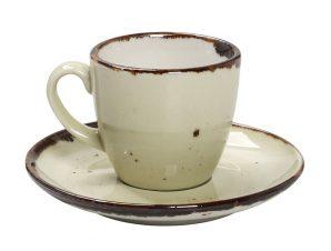 Φλυτζάνι Με Πιατάκι Espresso Πορσελάνης 90ml Terra Green ESPIEL TLH112K6 (Υλικό: Πορσελάνη) – ESPIEL – TLH112K6