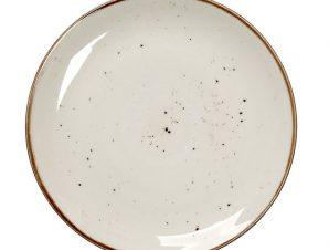 Πιάτο Ρηχό Πορσελάνης Terra Cream ESPIEL 24,5εκ. TLK102K6 (Υλικό: Πορσελάνη, Χρώμα: Κρεμ) – ESPIEL – TLK102K6