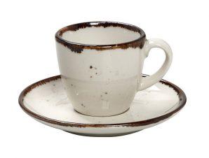 Φλυτζάνι Με Πιατάκι Espresso Πορσελάνης 90ml Terra Cream ESPIEL TLK112K6 (Υλικό: Πορσελάνη, Χρώμα: Κρεμ) – ESPIEL – TLK112K6