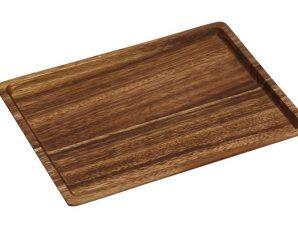 Δίσκος Σερβιρίσματος Ξύλινος Καφέ ESPIEL 18x24x1,5εκ. BAG107 (Υλικό: Ξύλο, Χρώμα: Καφέ) – ESPIEL – BAG107