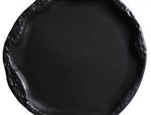 Πιάτο Φρούτου Πορσελάνης Volcano Black ESPIEL 17×2εκ. QAB103K6 (Υλικό: Πορσελάνη, Χρώμα: Μαύρο) – ESPIEL – QAB103K6