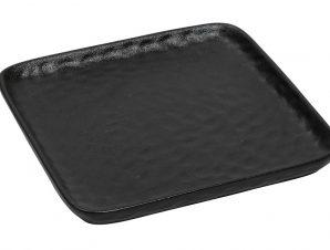 Πιάτο Τετράγωνο Κεραμικό ESPIEL 20×2,3εκ. NOL116K4 (Υλικό: Κεραμικό, Χρώμα: Μαύρο) – ESPIEL – NOL116K4