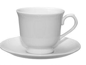 Φλυτζάνι Με Πιατάκι Πορσελάνης 250ml Λευκό Classy ESPIEL LEV308K6 (Υλικό: Πορσελάνη, Χρώμα: Λευκό) – ESPIEL – LEV308K6