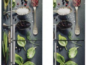 Διάφορα Μυρωδικά Φαγητό Αυτοκόλλητα ψυγείου 50 x 85 cm