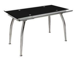 Τραπέζι Ανοιγόμενο Γυάλινο Μαύρο 120(25+25)x80x75εκ. Freebox FB90085.02 (Υλικό: Γυαλί, Χρώμα: Μαύρο) – Freebox – FB90085.02