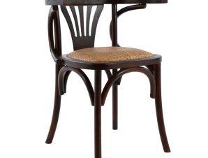Καρέκλα Ξύλινη Με Ψάθα Καφέ 58,5×49,5×77εκ. Freebox FB90180.03 (Υλικό: Ξύλο, Χρώμα: Καφέ) – Freebox – FB90180.03