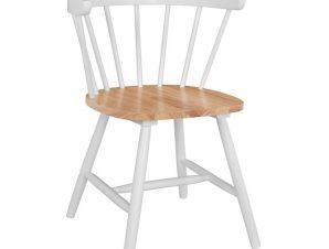 Καρέκλα Ξύλινη Λευκή 55,5x51x72,5εκ. Freebox FB98279 (Υλικό: Ξύλο, Χρώμα: Λευκό) – Freebox – FB98279