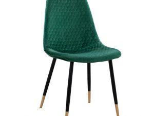 Καρέκλα Βελούδινη Κυπαρρισί Με Μαύρο Ματ Μεταλλικό Σκελετό 45x56x81εκ. Freebox FB98552.03 (Υλικό: Μεταλλικό, Ύφασμα: Βελούδο, Χρώμα: Μαύρο) – Freebox – FB98552.03