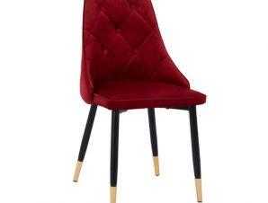 Καρέκλα Βελούδινη Κόκκινο Βουργουνδίας Με Μεταλλικό Σκελετό 49x53x88Υεκ. Freebox FB98701.06 (Υλικό: Μεταλλικό, Ύφασμα: Βελούδο, Χρώμα: Κόκκινο) – Freebox – FB98701.06