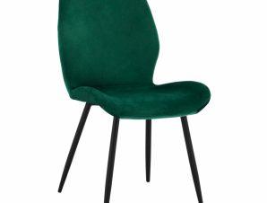 Καρέκλα Βελούδινη Κυπαρισσί Με Μαύρο Μεταλλικό Σκελετό 49×62,5×87εκ. Freebox FB98730.03 (Υλικό: Μεταλλικό, Ύφασμα: Βελούδο, Χρώμα: Μαύρο) – Freebox – FB98730.03