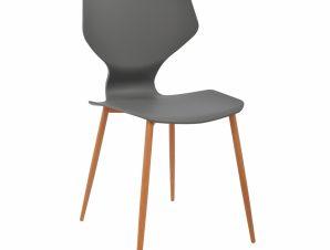 Καρέκλα Πολυπροπυλενίου Γκρι Με Μεταλλικά Πόδια Arete 47×45,5×85εκ. Freebox FB98002.10 (Υλικό: Μεταλλικό, Χρώμα: Γκρι) – Freebox – FB98002.10