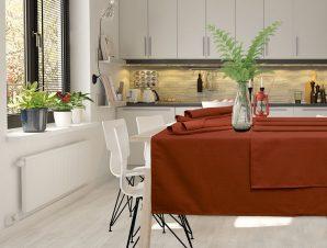 Τραπεζομάντηλο 140×180 Das Home Table 0546 Κεραμιδι