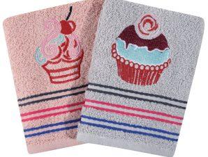 Πετσέτες Κουζίνας (Σετ 2 Τμχ) 40X60 Das Home Kitchen 0592 Ροζ