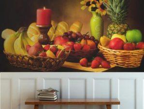 Ποικιλία φρούτων Φαγητό Ταπετσαρίες Τοίχου 80 x 120 cm