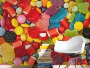 Πολύχρωμες καραμέλες Φαγητό Ταπετσαρίες Τοίχου 89 x 110 cm