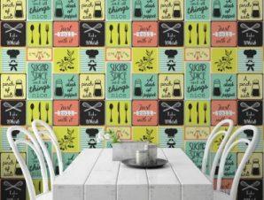 Αλάτι-Zάχαρη Φαγητό Ταπετσαρίες Τοίχου 100 x 100 cm