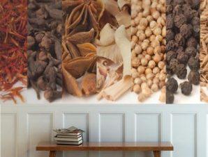 Ποικιλία μπαχαρικών Φαγητό Ταπετσαρίες Τοίχου 59 x 170 cm