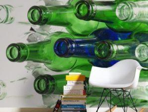 Άδεια μπουκάλια Φαγητό Ταπετσαρίες Τοίχου 87 x 116 cm