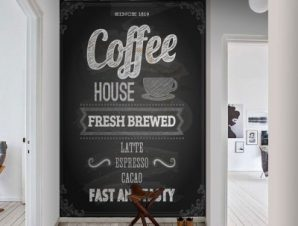 Coffee House Φαγητό Ταπετσαρίες Τοίχου 110 x 92 cm
