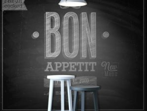 Bon Appetit Φαγητό Ταπετσαρίες Τοίχου 111 x 91 cm