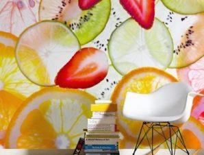 Φέτες φρούτων Φαγητό Ταπετσαρίες Τοίχου 79 x 126 cm