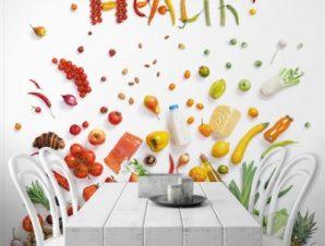 Υγεία! Φαγητό Ταπετσαρίες Τοίχου 101 x 99 cm