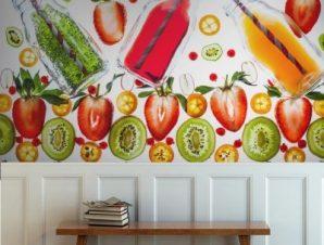 Φρέσκοι χυμοί Φαγητό Ταπετσαρίες Τοίχου 82 x 122 cm